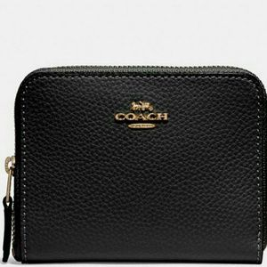 💖NEW WITH TAGS●COACH Leather Zip Around Wallet💜